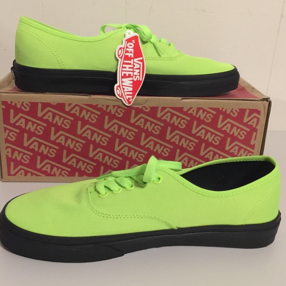 ba1b70cc48 NWT Vans Men s Authentic Black Outsole Neon Green